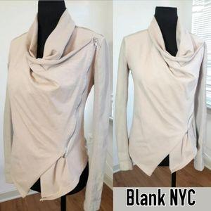 Blank NYC Jacket Women's XS Tan Asymmetric Zip